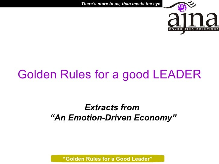 Golden Rules For A Good Leader