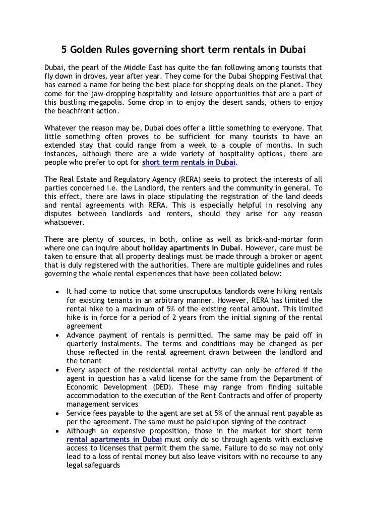 Dubai ruls browse info on dubai ruls for Apartment rental rules