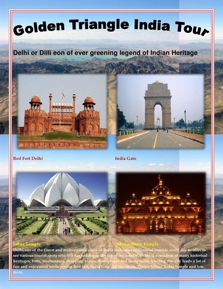 Golden triangle holidays india