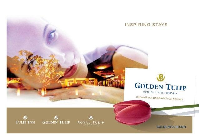 INSPIRING STAYS           GOLDENTULIP.COM