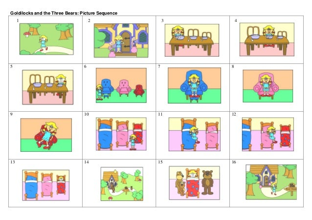And The Three Bears Sequencing Worksheets goldilocks and three bear ...