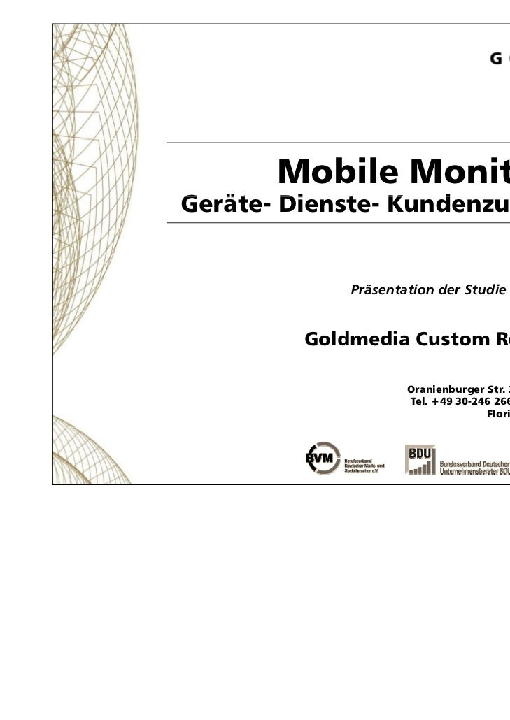 Mobile Monitor 2011Geräte- Dienste- K dG ät Di      t Kundenzufriedenheit                       f i d h it                ...