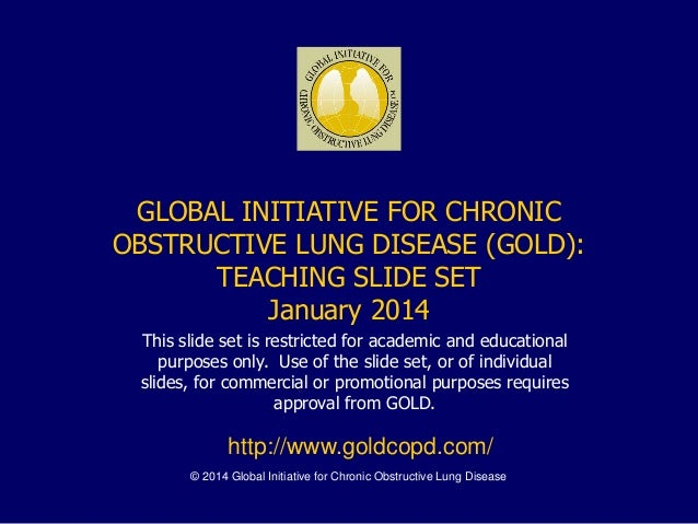 © 2014 Global Initiative for Chronic Obstructive Lung Disease GLOBAL INITIATIVE FOR CHRONIC OBSTRUCTIVE LUNG DISEASE (GOLD...