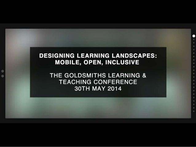 UAL presentation Slides Goldsmiths Conference 2014