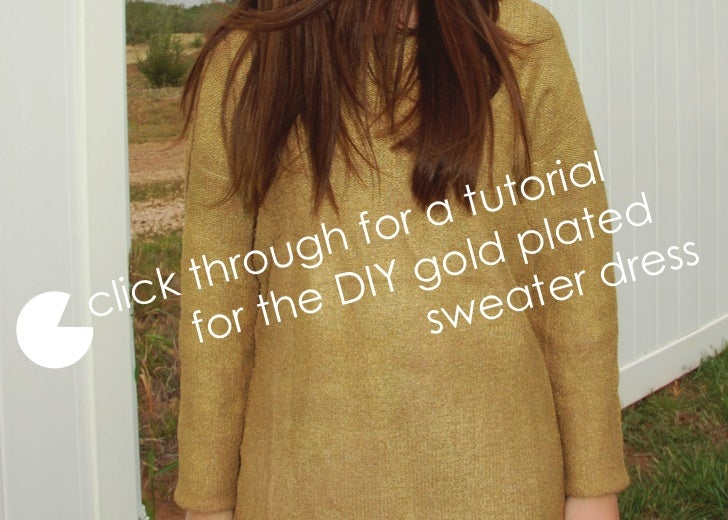 Gold stella sweater steps