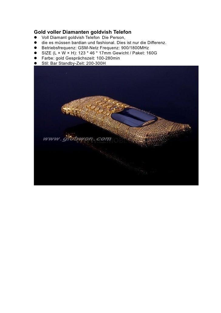 Gold voller Diamanten goldvish Telefon Voll Diamant goldvish Telefon Die Person, die es müssen bardian und fashional. ...