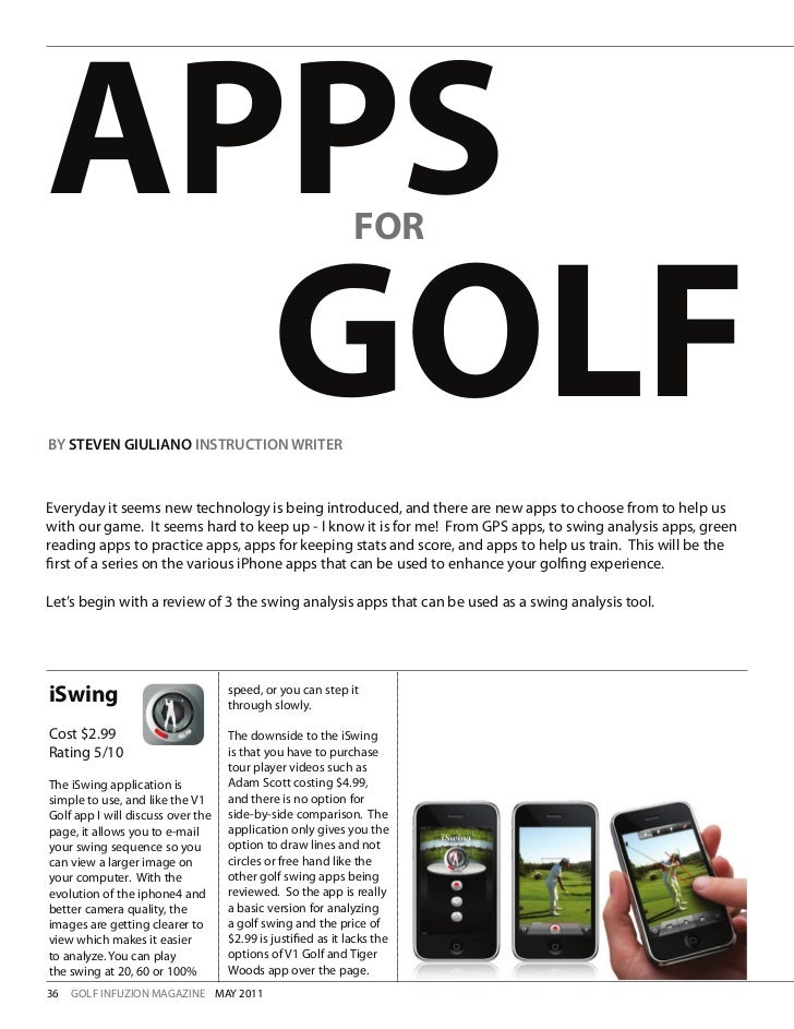 APPS                                                         FOR  GOLFBY STEVEN GIULIANO INSTRUCTION WRITEREveryday it see...
