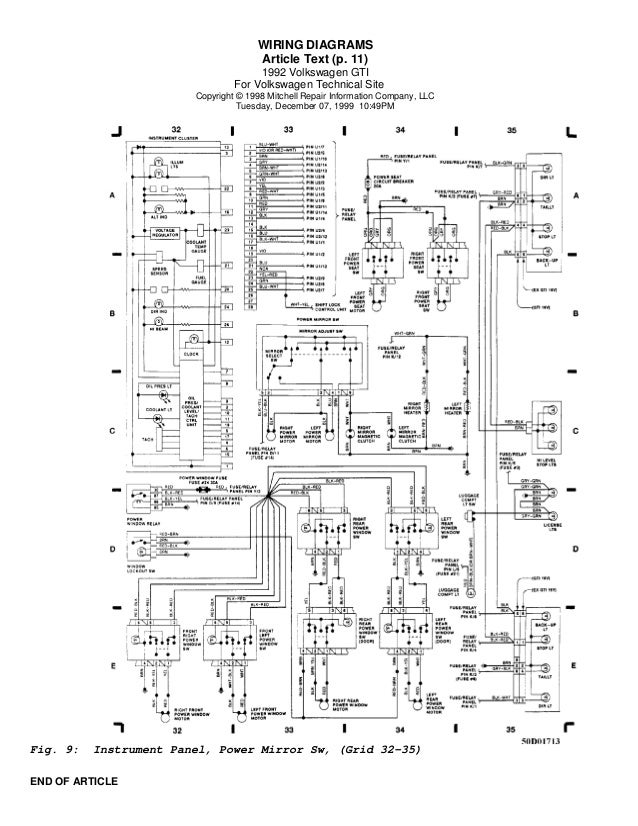 Golf 92 wiring diagrams (eng)