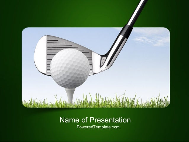Golf Tournament PowerPoint Template by PoweredTemplate.com