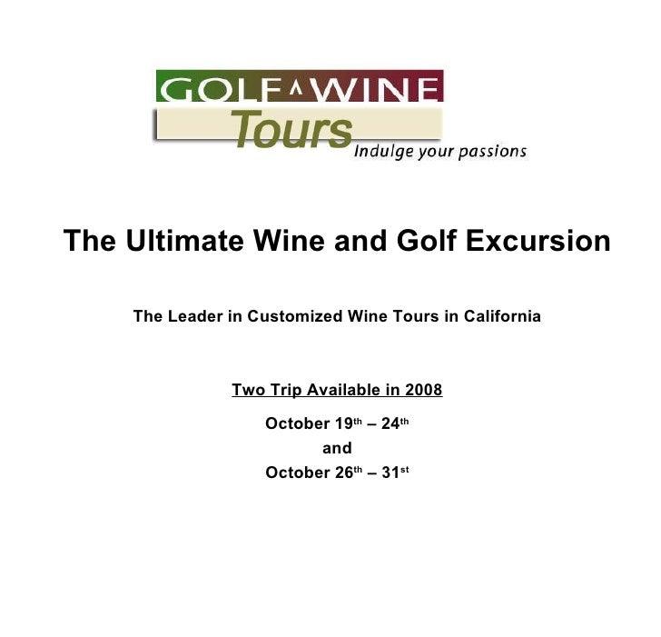 Golf Wine Napa