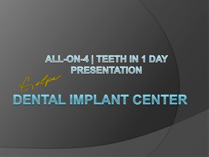 Understanding Your Options   Edentulous (missing all teeth) Patients    have several options. In this presentation    we ...