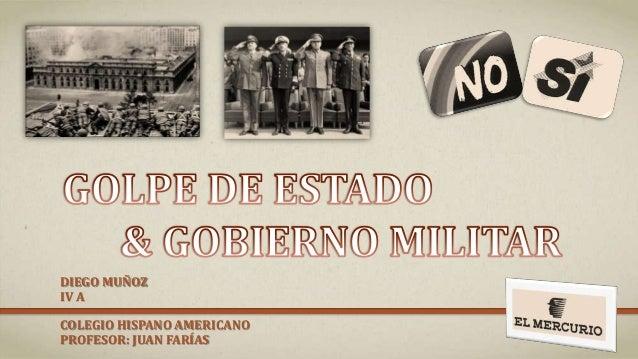 DIEGO MUÑOZ IV A COLEGIO HISPANO AMERICANO PROFESOR: JUAN FARÍAS