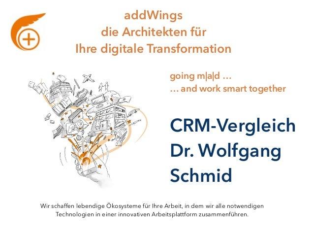 addWings die Architekten für Ihre digitale Transformation going m a d … … and work smart together Wir schaffen lebendige ...