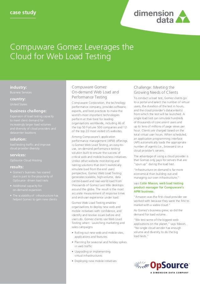 Compuware GomezOn-demand Web Load andPerformance TestingCompuware Corporation, the technologyperformance company, provides...