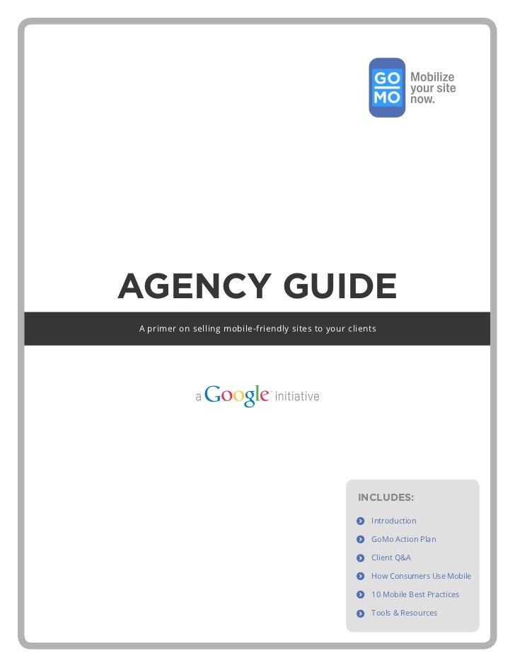 The GoMo Playbook for Mobile Websites from Google