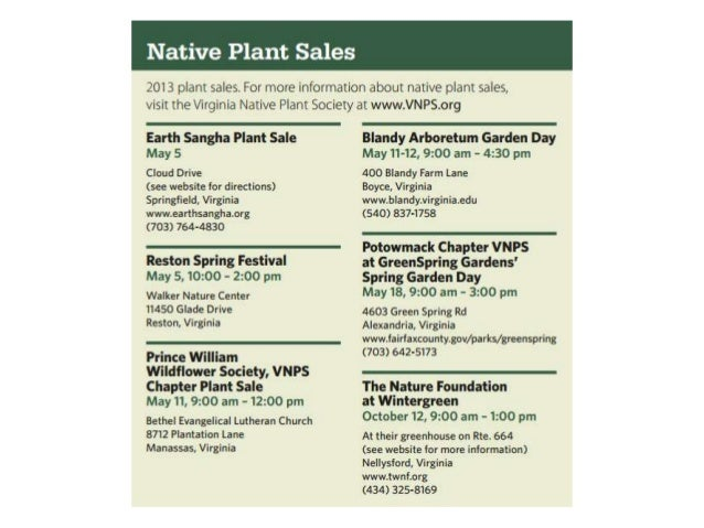 2013 Go Native Go Local Guide -- Excerpts