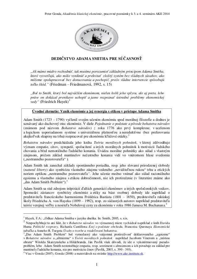 Peter Gonda: Akadémia klasickej ekonómie 2014 /3. a 4. seminár/
