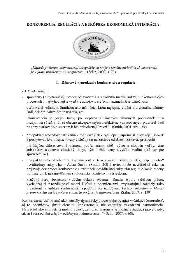 Peter Gonda: Akadémia klasickej ekonómie 2013 /5. seminár/