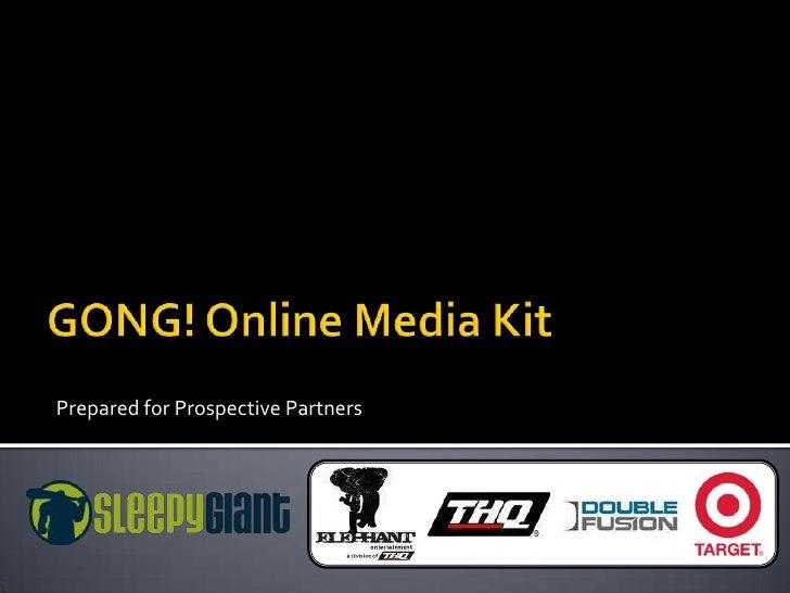 Gong! Online Media Kit