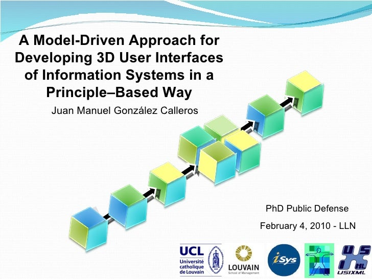 a Model-driven development methodology for 3D User Interface for Information Systems in a Principle based way