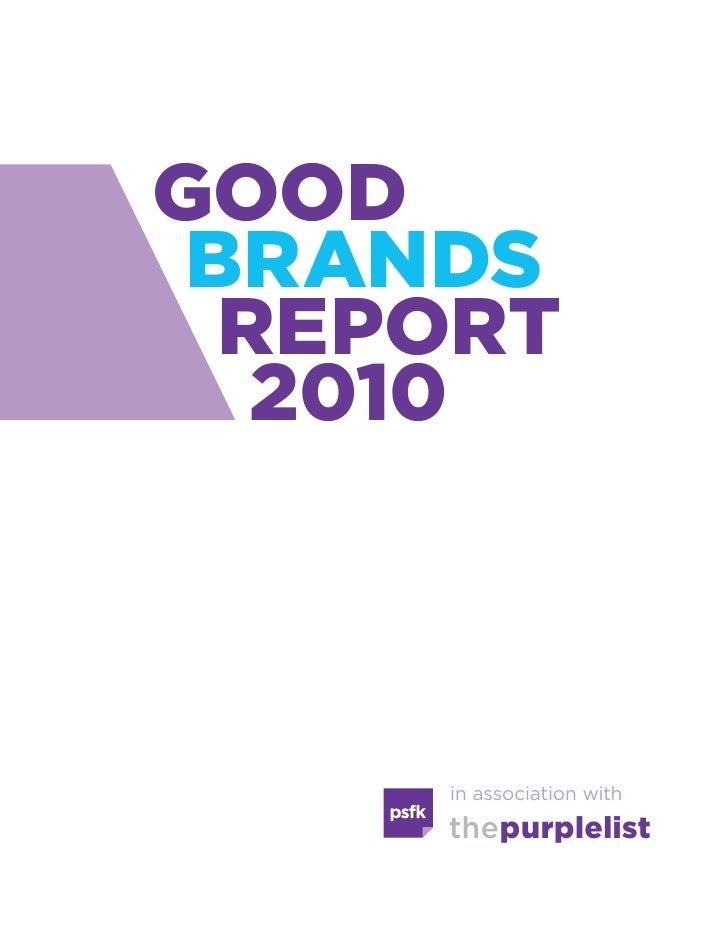 Good brands report 2010