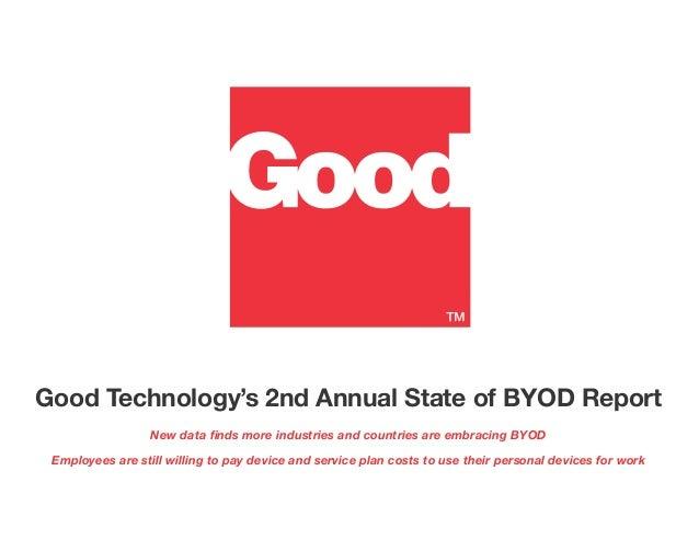 Rapport annuel de Good sur le BYOD