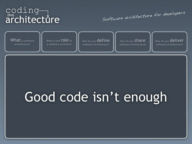 Good code-isnt-enough