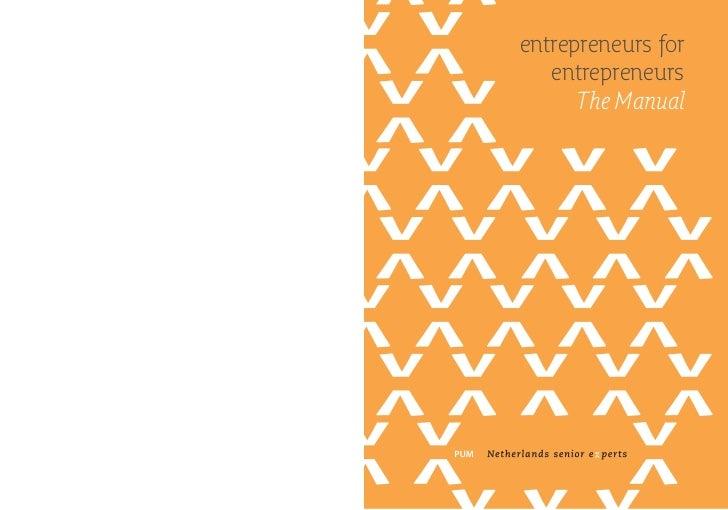 entrepreneurs for   entrepreneurs      The Manual