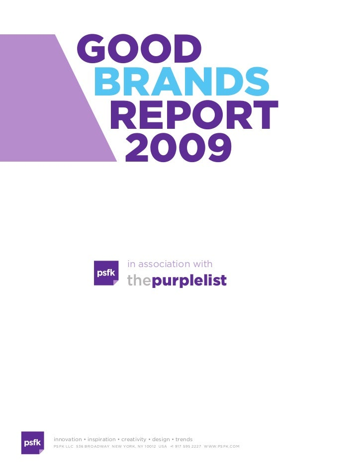 Good Brands Report 2009