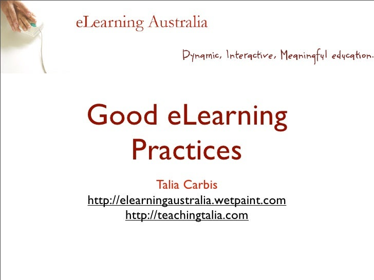 Good Elearning Practices 1207625313578308 8