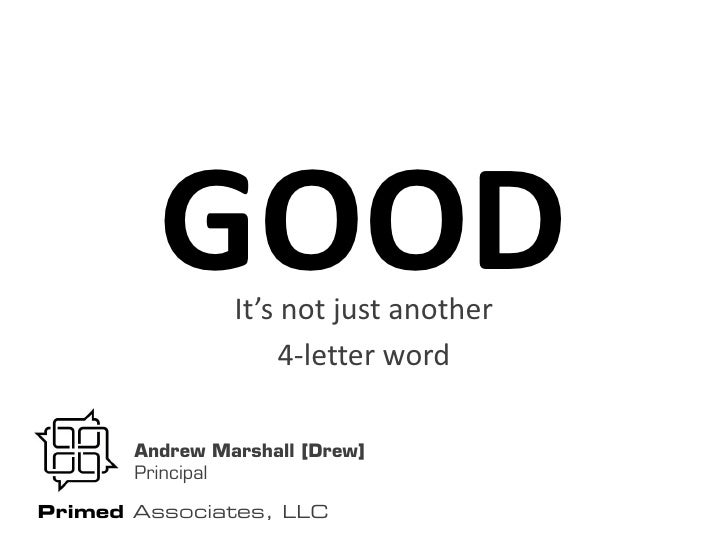 just a four letter word: