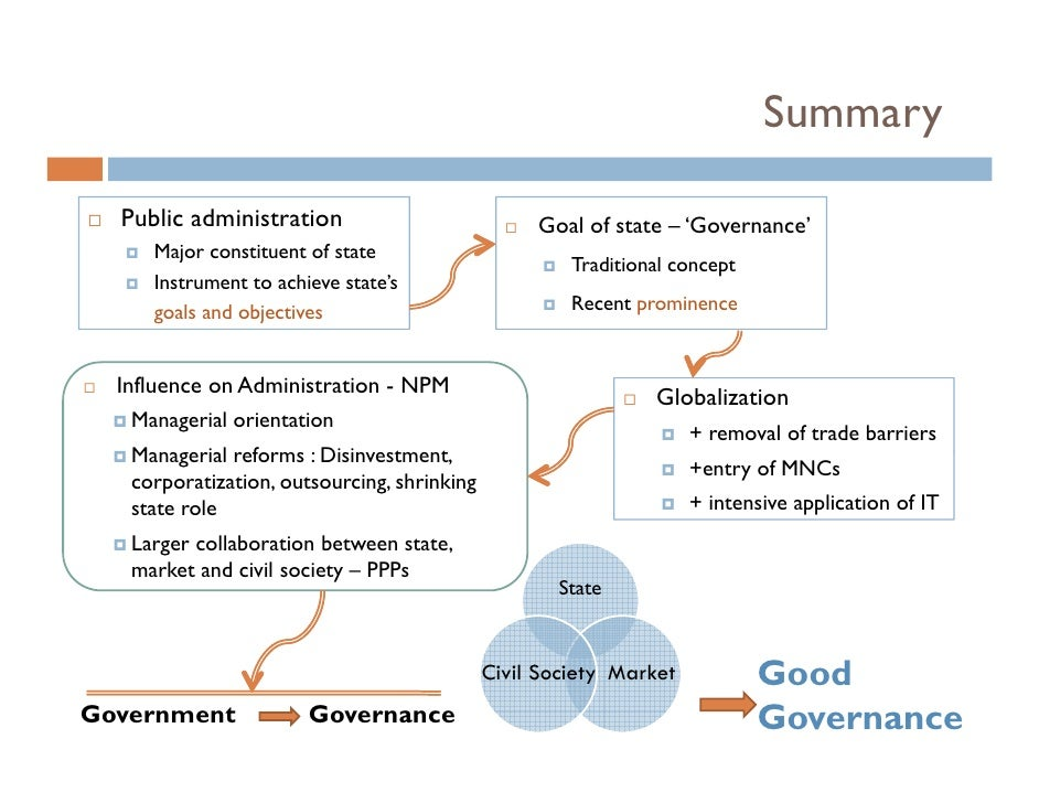 the concept of public administration What is the concept public administration \n public administration is the science that houses the implementation of government policy, it also houses the discipline of this science which educate people for this job, and to ensure that the tasks are delivered efficiently and without bias.