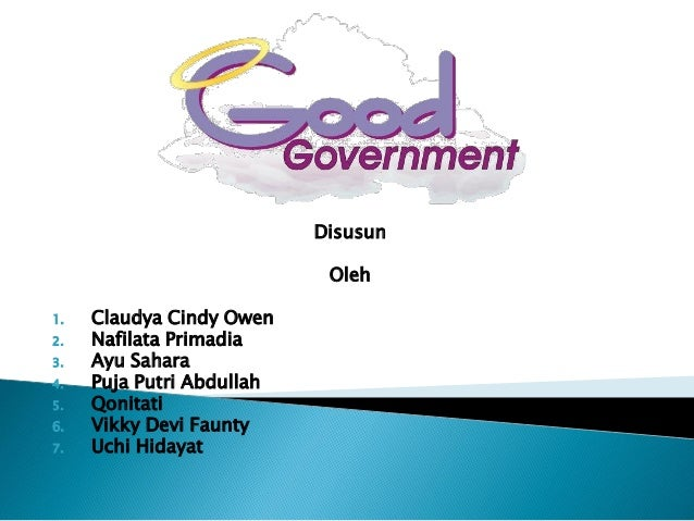 Good government (kel 10)
