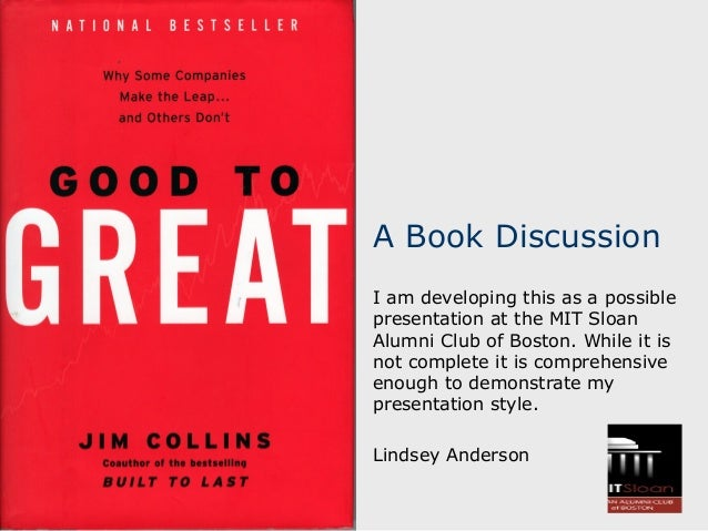 A Book Discussion I am developing this as a possible presentation at the MIT Sloan Alumni Club of Boston. While it is not ...