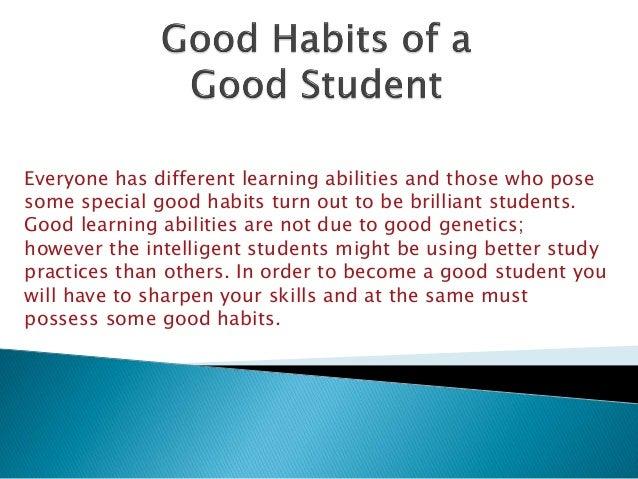 speech on good habits for class 1