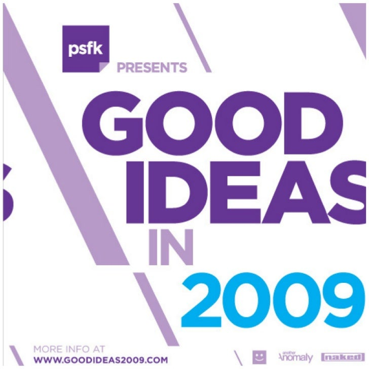 Good Ideas In 2009 Plan For Change