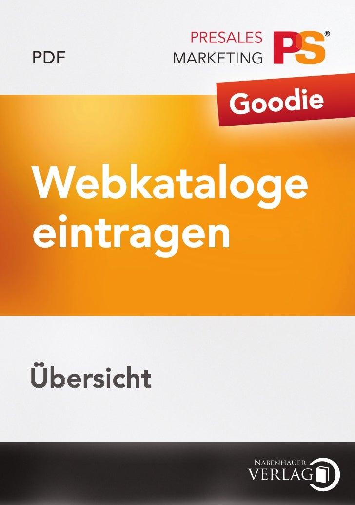PDF            GoodieWebkatalogeeintragenÜbersicht
