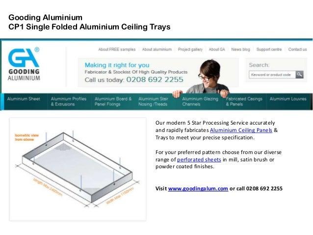 Gooding Aluminium Single Folded Ceiling Panels