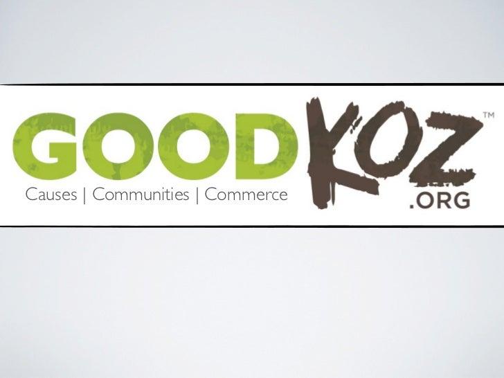 Causes | Communities | Commerce