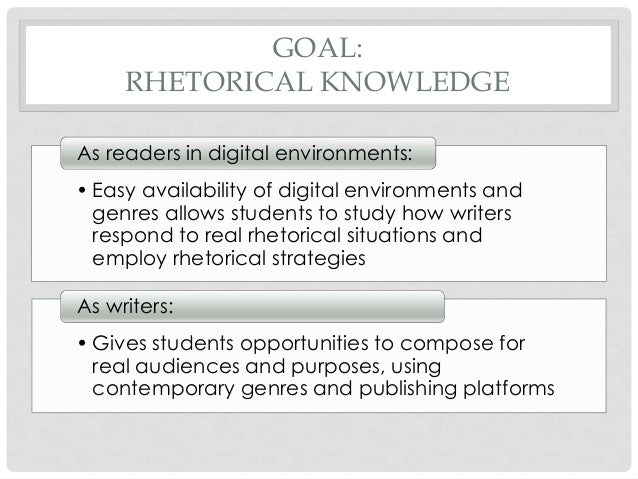How can i use rhetorical knowledge in my essays?