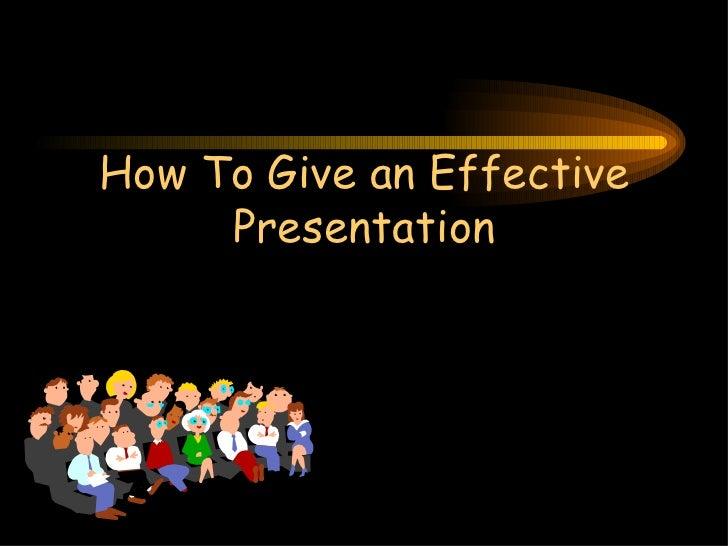 Good presentation