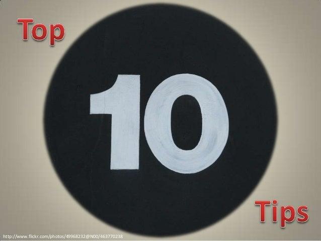 Garr Reynolds' Top Ten Presentation Tips