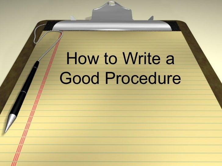 How to write process essay