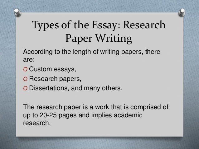 Good research paper topic ideas