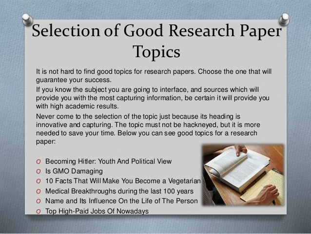 interesting research ideas Interesting topic ideas for your paper or debate links to help start your research.