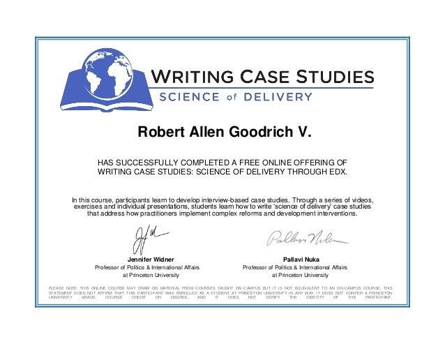 Case studies in science