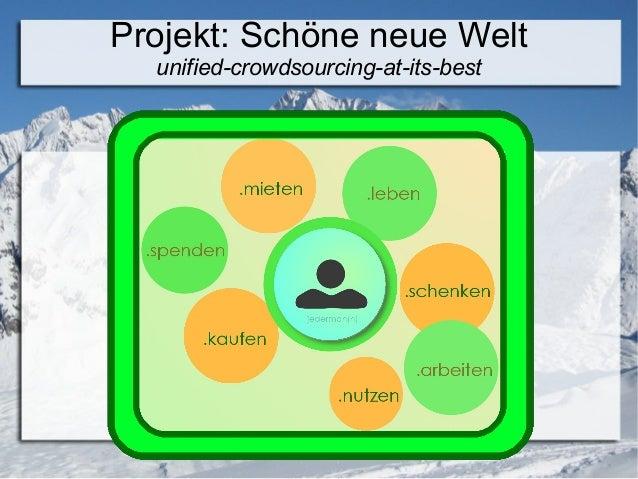 Projekt: Schöne neue Welt unified-crowdsourcing-at-its-best Dominik Vecernik