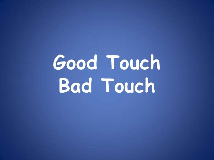 Good touch bad touch  grades 3 5
