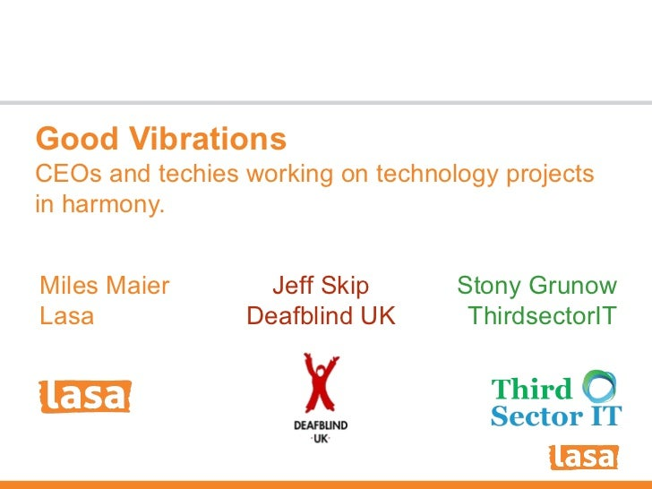 Good Vibrations: Can CEO's and Technology Consultants work together?