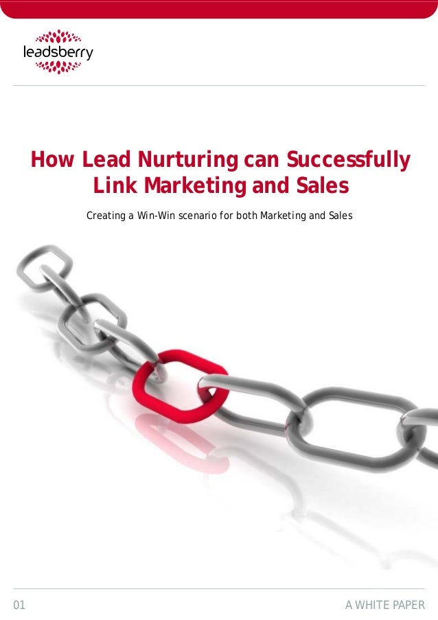 How Lead Nurturing can Successfully          Link Marketing and Sales          Creating a Win-Win scenario for both Market...